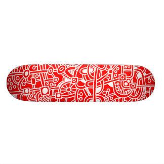 Metrópoli I - Blanco en rojo Patin Personalizado