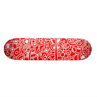 Metrópoli III - Blanco en rojo Skate Board