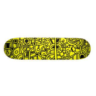 Metrópoli III - Negro en amarillo Skateboards