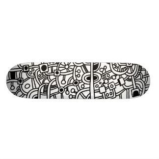 Metrópoli III - Negro en blanco Skateboard