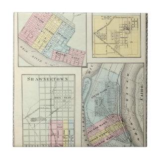 Metrópoli, Shawneetown, El Cairo y Pinckneyville Azulejo Cuadrado Pequeño