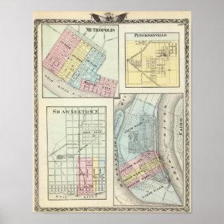 Metrópoli, Shawneetown, El Cairo y Pinckneyville Posters