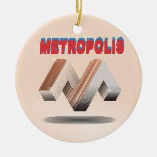 metropolis 1 ceramic ornament