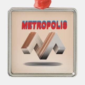 metropolis 1 metal ornament