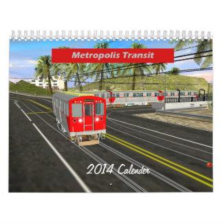 Metropolis 2014 Trolley & Elevated Calender Calendar