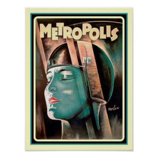 """Metropolis"" Art Deco Poster"