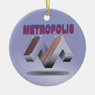 metropolis ceramic ornament