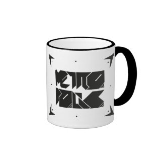 Metropolis Deco Breakfast Ringer Coffee Mug