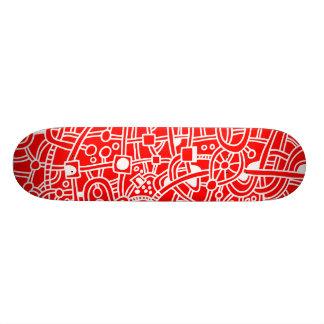 Metropolis II - White on Red Skate Board