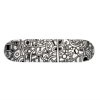 Metropolis III - On Wood Skateboard Deck