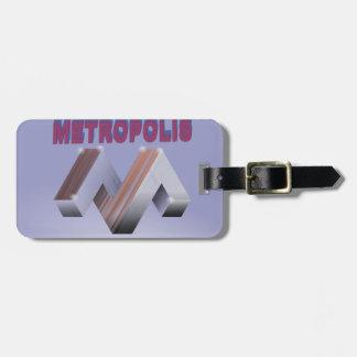 metropolis luggage tag