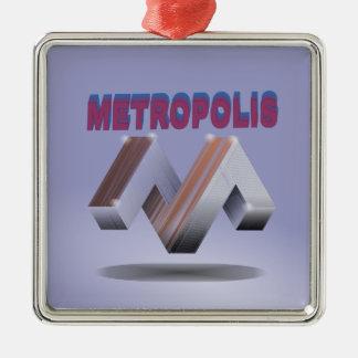 metropolis metal ornament