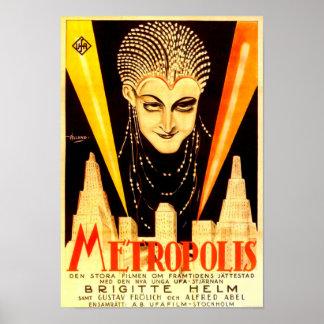 Metropolis Movie Poster, German, 1927 Poster