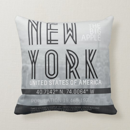 Metropolis New York Throw Pillow