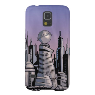 Metropolis on cloudy background galaxy s5 cases