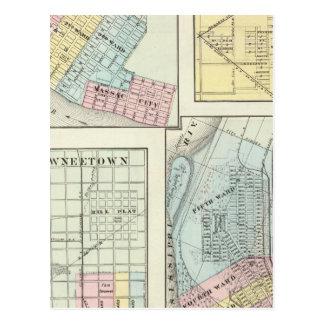 Metropolis, Shawneetown, Cairo and Pinckneyville Postcard