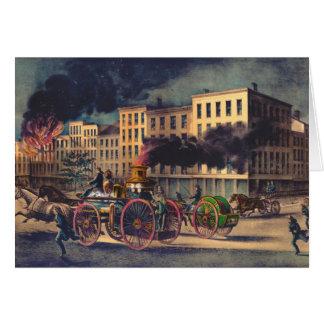 Metropolitan Firefighting System 1866 Card