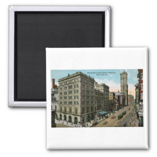 Metropolitan Opera House, New York 2 Inch Square Magnet