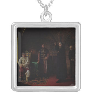 Metropolitan Philip of Moscow  with Tsar Ivan Silver Plated Necklace