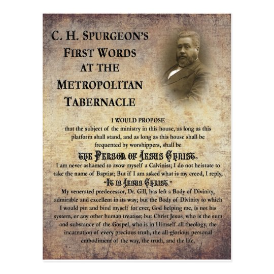 Metropolitan Tabernacle First Words Postcard