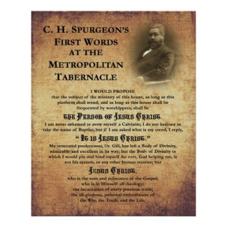 Metropolitan Tabernacle First Words Print print