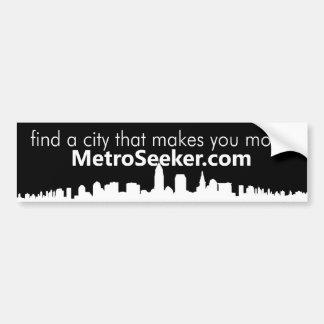 MetroSeeker.com: find a city that makes you move Car Bumper Sticker