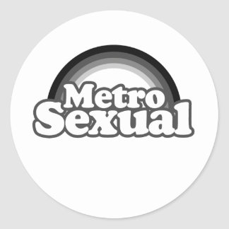 Metrosexual Pride.png Pegatina Redonda