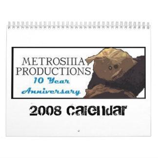 Metroshia Calander 2009 Calendario De Pared