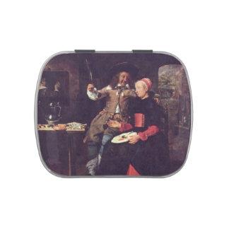 Metsu-Retrato de Gabriel del artista con su esposa Latas De Caramelos