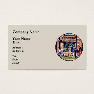Metuchen NJ - Bicyclists on Main Street Business Card