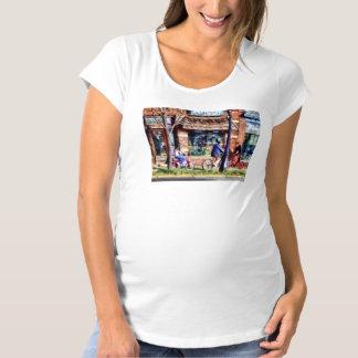 Metuchen NJ - Bicyclists on Main Street Maternity T-Shirt