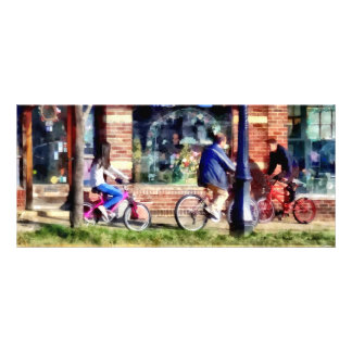 Metuchen NJ - Bicyclists on Main Street Rack Card