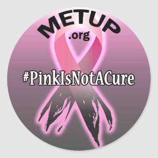 METUP sticker - Pink Is Not A Cure