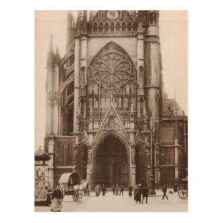 Metz Cathedral France Replica 1920 approx Postcard
