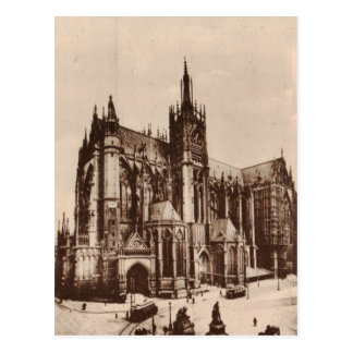 Metz Cathedral France Replica 1930 Postcard