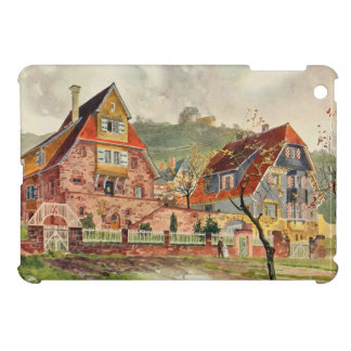Metzendorf Watercolor German Architecture Vintage Case For The iPad Mini