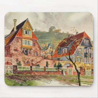 Metzendorf Watercolor German Architecture Vintage Mouse Pad