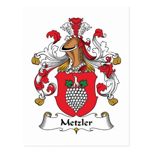 Metzler Family Crest Postcard