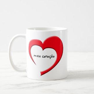 Meu Coracao II Mug (Portuguese - red)