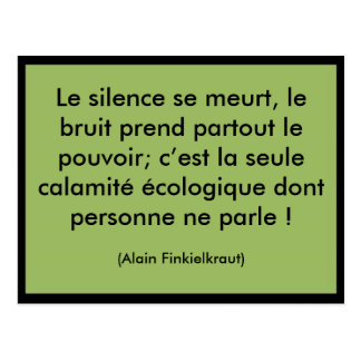 Meurt de Le silence se Postales