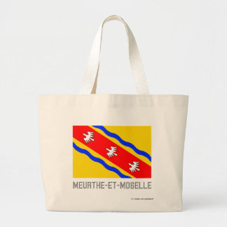 Meurthe-et-Moselle flag with name Tote Bags