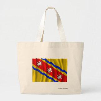 Meurthe-et-Moselle waving flag Canvas Bags