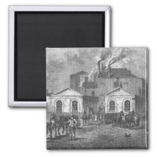 Meux's Brewery, 1830 2 Inch Square Magnet