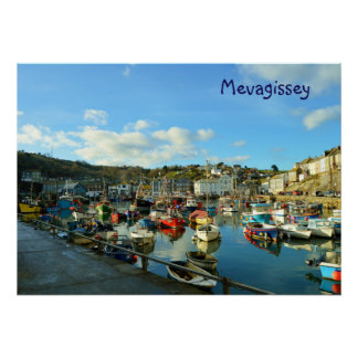 Mevagissey Cornwall England Poster