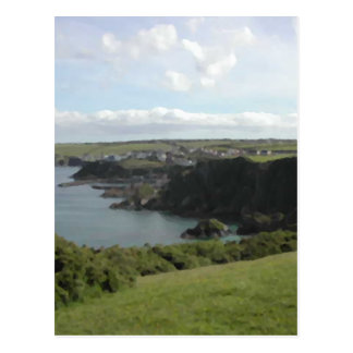 Mevagissey. Cornwall. Scenic coastal view. Postcard