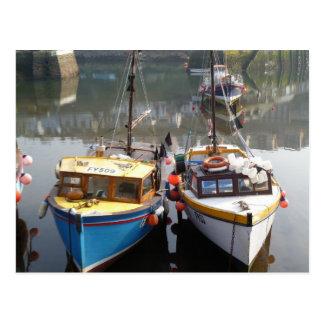 Mevagissey fishing fleet postcard