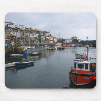 Mevagissey Harbour Mouse Pad