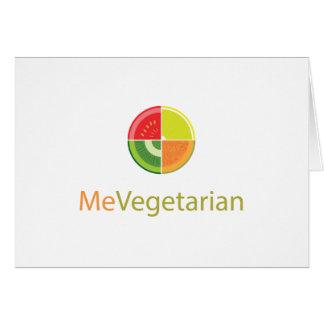MeVegetarian Design Greeting Card