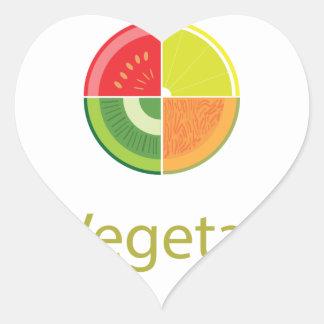 MeVegetarian Design Heart Sticker
