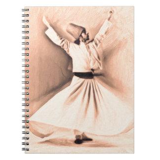 Mevlana Sufi 2 Spiral Notebook